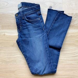 CURRENT/ELLIOT the rolled skinny townie jeans